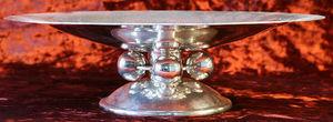 Boccador Jacqueline Et Fils - coupe métal argenté martelé du normandie - Coppa Decorativa