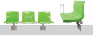 Ferco Seating Systems - arc shell - Sedie Su Barra Per Sala D'attesa