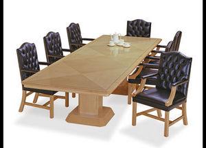Le-Al Executive Furniture - column base table in birdeye maple - Tavolo Da Conferenza