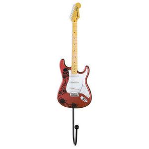 La Chaise Longue - patère guitare rock en fibre de bois 25x7cm - Appendiabiti Da Parete