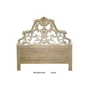 DECO PRIVE - tete de lit 180 cm en bois cerusé modele carved - Testiera Letto