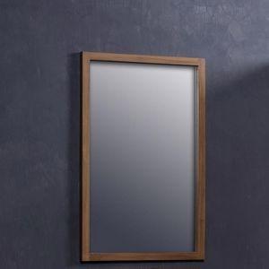 BOIS DESSUS BOIS DESSOUS - miroir en bois de teck rectangulaire 80 - Specchio Bagno