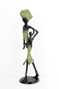 Bronzes d'Afrique - medium bronze - Scultura