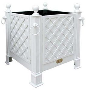 Jardinieres & Interieurs - bac blanc avec treillage - Vaso Stile Orangerie