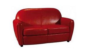 DECO PRIVE - canape club en cuir rouge by cast rouge - Divano Club